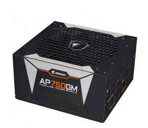 Gigabyte Ap750gm Aorus 750w Atx Psu Power Supply 80+ Gold >90% Modular 135mm Fan Black Flat Cables