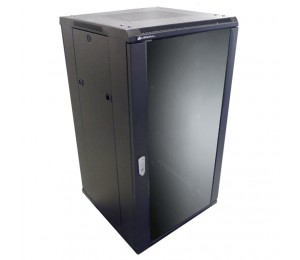 Linkbasic 18Ru 600Mm Depth Server Rack Glass Door With 2X240V Fans And 8-Port 10A Pdu Ncb18-66-Bda