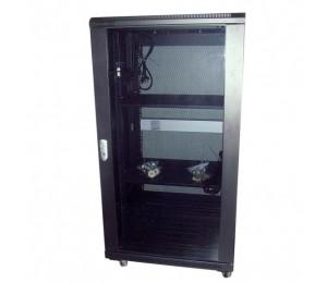 Linkbasic 22Ru 600Mm Depth Server Rack Smoke Glass Door With 2X240V Fans And 8-Port 10A Pdu Ncb22-66-Bda