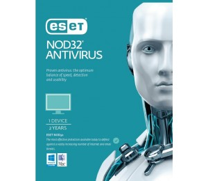 Eset Nod32 Antivirus 1 Device 2 Years Retail Download Card Av-Es-Nod32R2Y