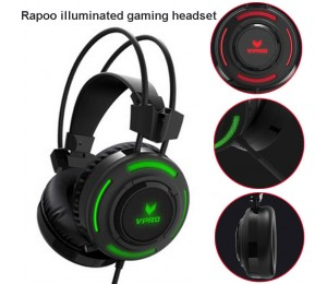 Rapoo Vh200 Illuminated Rgb Glow Gaming Headphones - 16m Colour Breathing Light, Hidden Noise-cancelling