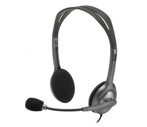 Logitech H110 Stereo Headset Over-the-head Headphone 3.5mm Versatile Adjustable Microphone For