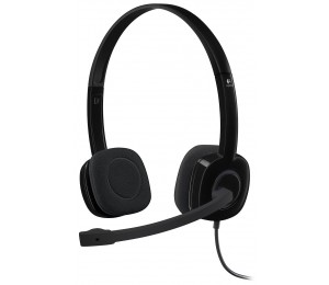 LOGITECH H151 Stereo Headset Light Weight Adjustable Headphone with Microphone 3.5mm jack In-line