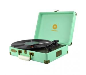 Mbeat Woodstock Retro Turntable Player Tiffany Blue Mb-tr89tbl