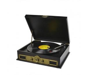 Mbeat Vintage Usb Turntable With Bluetooth Speaker And Am/ Fm Radio Usbtr98