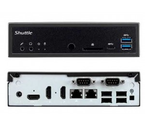 Shuttle Dh270 Slim Mini Pc 1.3l - Fanless 4k Uhd 3xdisplays H270 Lga1151 2xddr4 3xhdmi 2.5x Hdd