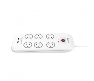 Huntkey 6 Outlet Surge Protected Powerboard With 2 Usb Charging Ports Sac607