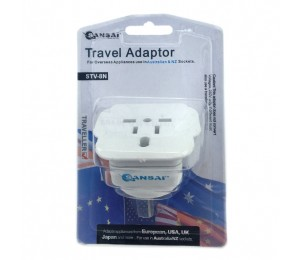 Sansai Travel Adapter For 240V Equipment From Britain/ Usa/ Europe/ Japan/ China/ Hongkong/ Singapore/