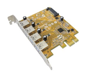 Sunix Usb4300Ns Pcie 4-Port Usb 3.0 Card (Sata Power Connector) Usb4300Ns