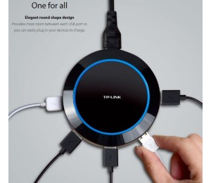 TP-Link UP540 5-Port USB Charger Hub 40W 8A 1.65X Fast Charging Smart Circuit Design Universal