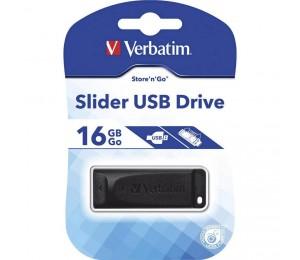 Verbatim Usb2.0 Store 'n' Go Slider Usb Drive 16gb 98696