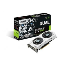 Asus Nvidia Dual-gtx1060-o6g Pcie Card Gddr5 8k 7680x4320 2xdp 2xhdmi 1xdvi 1785/ 1569 Mhz Dual-gtx1060-o6g