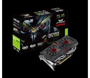 Asus nVidia STRIX-GTX1060-DC26G PCIe Card GDDR5 8K 7680x4320 2xDP 2xHDMI 1xDVI 1708/ 1506MHz STRIX-GTX1060-DC26G