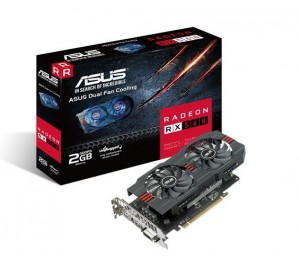 Asus AMD Radeon RX560-2G DDR5 PCIe Video Card 5120x2880 1xDVI 1xHDMI 1xDP RX560-2G
