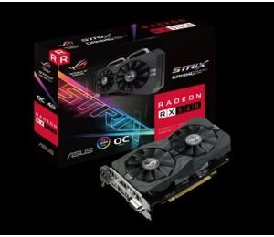 Asus AMD Radeon ROG-STRIX-RX560-O4G-EVO-GAMING DDR5 PCIe Video Card 5120x2880 1xDVI 1xHDMI 1xDP