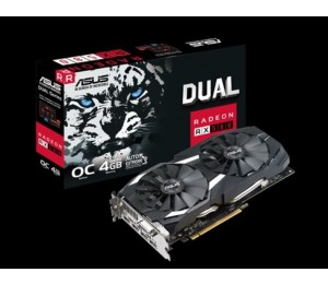Asus AMD Radeon DUAL-RX580-O4G DDR5 PCIe Video Card 8K 7680x4320 1xDVI 2xHDMI 2xDP 1380/ 1360 MHz