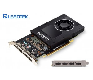 Leadtek Nvidia Quadro P2000 Pcie Workstation Card 5gb Ddr5 4xmdp 1.4 4x5120x2880@60hz 160-bit