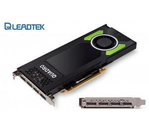 Leadtek nVidia Quadro P4000 PCIe Workstation Card 8GB DDR5 4xmDP 1.4 4x5120x2880@60Hz 256-Bit