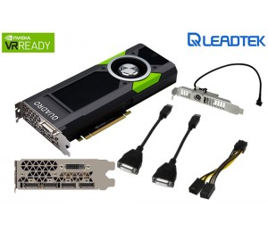 Leadtek Nvidia Quadro P5000 Pcie Workstation Card 16gb Ddr5 4xdp1.4 Dvi 4x5120x2880@60hz 256-bit