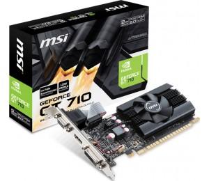 MSI GT710 2G D5 Low Profile VGA Card - PCIE2.0 DVI/ HDMI/ VGA GDDR5 Core 954MHz RAM 5010MHz Max