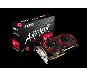Msi Amd Radeon Rx 580 Armor Mk2 8g Oc Video Card - Gddr5 2xdp/ 2xhdmi/ Dvi Cf Vr Ready 1366mhz Radeon