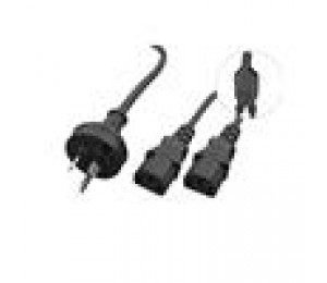 Cabac Y Power Cord oem CPU & Monitor to One 3 pin 3PIECBKYF