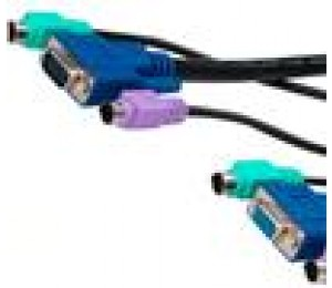 Cabac 1.8M KVMCombo Cable 2X PS2, HD15 Male to Female 402L1001P