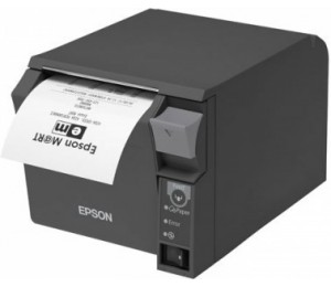 EPSON TM-T70II UNDER-COUNTER COMPACT THERMAL RECEIPT PRINTERBUILT-IN USB ETHERNET UB-E04 DARK GREY
