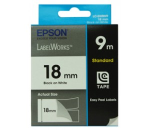 Epson Tape Standard 18mm Black/ White 9 Meter For Lw-300 & Lw-400 C53s626100