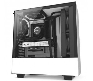 Nzxt Mid Tower: H500 Matte White Mid Tower Chassis Ca-h500b-w1