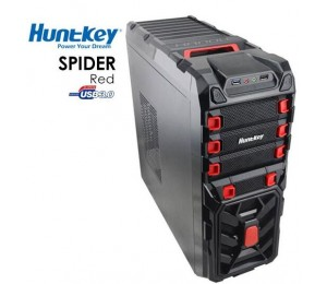 Huntkey Spider Red Gaming Case (no Psu) Cashunspiderred-1
