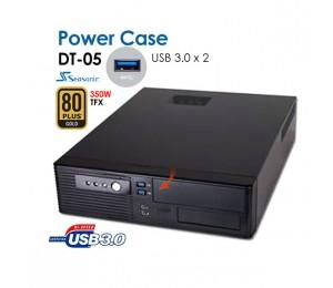 Powercase Dt05 Slim Desktop With 2 X Usb3.0 Ports + Bonus Seasonic 350w Tfx 80plus Gold Psu Caspowdt05u3350g