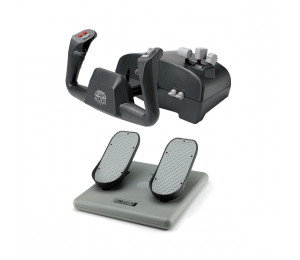 Ch Aviator Pack Includes Both The Flight Sim Yoke (usb) & Pro Pedals (usb)