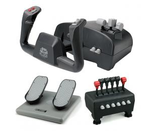 CH Captain's Pack Includes Flight Sim Yoke (USB), Pro Pedals (USB) & Quadrant Throttle