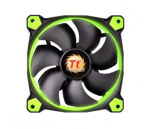 Thermaltake 140mm Case Fan: Riing 14 Green LED 1400RPM Fan CL-F039-PL14GR-A