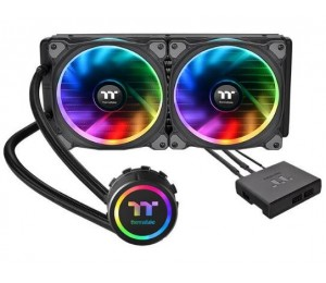 Thermaltake Floe Riing Rgb 280 Tt Premium Edition Two 140mm Riing Plus Rgb Fans And A Led Waterblock