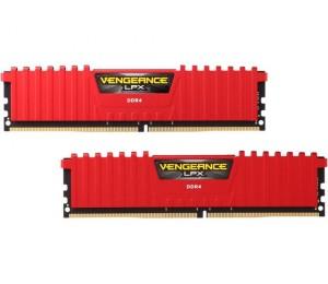 Corsair DUAL CHANNEL: 16GB (2x8GB) DDR4-2133MHz Vengeance LPX Dimm 13-15-15-28 2x288-pin, Red CMK16GX4M2A2133C13R