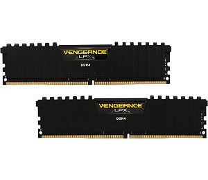 Corsair DUAL CHANNEL: 16GB (2x8GB) DDR4-2400MHz Vengeance LPX DIMM 14-16-16-31 2x288-pin CMK16GX4M2A2400C14