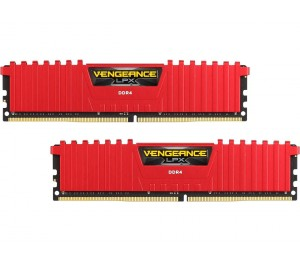 Corsair DUAL CHANNEL: 16GB (2x8GB) DDR4-3000MHz Vengeance LPX RED Dimm 15-17-17-35 2x288-pin for