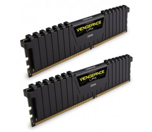 Corsair DUAL CHANNEL :16GB (2x8GB) DDR4-3200MHz Black Vengeance LPX Dimm 16-18-18-36 2x288-pin