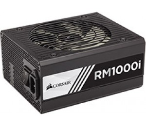 Corsair Power Supply:1000W 80 PLUS Gold Zero RPM Fan Mode/ Configurable +12V rail 135mm fan 8x