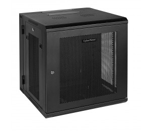 """CyberPower CR12U51001 19"""" 12U 600mm Deep Swing Out Wall Mount Enclosure, Hex Perforated Metal"""