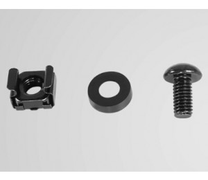 Cyberpower Cra60001 M6 Cage Nut And Screw Hardware (m6), 50 Per Pack Cra60001