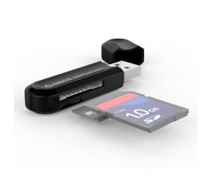 Orico Black Crs21 Usb3 Tf & Sd Card Reader Orc-crs21-bk