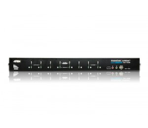 Aten 8 Port Rackmount Usb Dvi Kvm Switch With Audio And Osd 4710420000000
