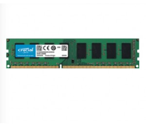 Crucial DDR3 PC12800-2GB 1600Mhz 256x8 CL11 Dual Rank Desktop Memory Single Ranked CT25664BD160BJ