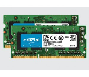 Crucial 4gb Kit (2gbx2) Ddr3 1066 Mt/ S (pc3-8500) Cl7 Sodimm 204pin For Mac Ct2k2g3s1067m