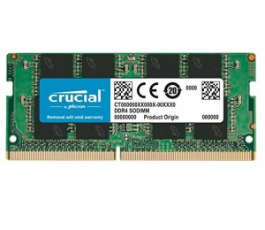 Crucial DDR4 SODIMM PC19200-4GB 2400Mhz Single Rank CL17 Notebook Memory [CT4G4SFS624A] CT4G4SFS624A