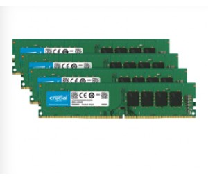 Crucial DDR4 PC17000-32GB Kit (4x8GB) 2133Mhz 512x8 CL15 Single Ranked Desktop Memory [CT4K8G4DFS8213]