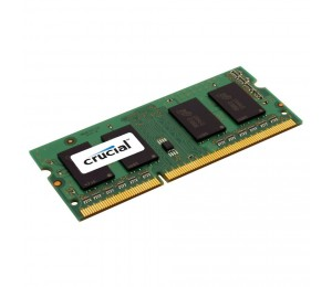 Crucial SINGLE CHANNEL SO-Dim: 4GB DDR3 1600MHz MT/ s (PC3-12800) CL11 204pin DualVoltage 1.35V/
